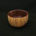 """Walnut with sapwood; 4"""" diameter, 2.5"""" high. Available"""