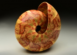 """Fame box elder (color is naturally occurring in the wood); 9"""" long, 9"""" high, 6.5"""" deep. Not available"""